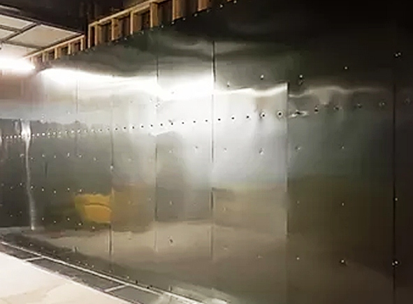 MRI shielded room partially built